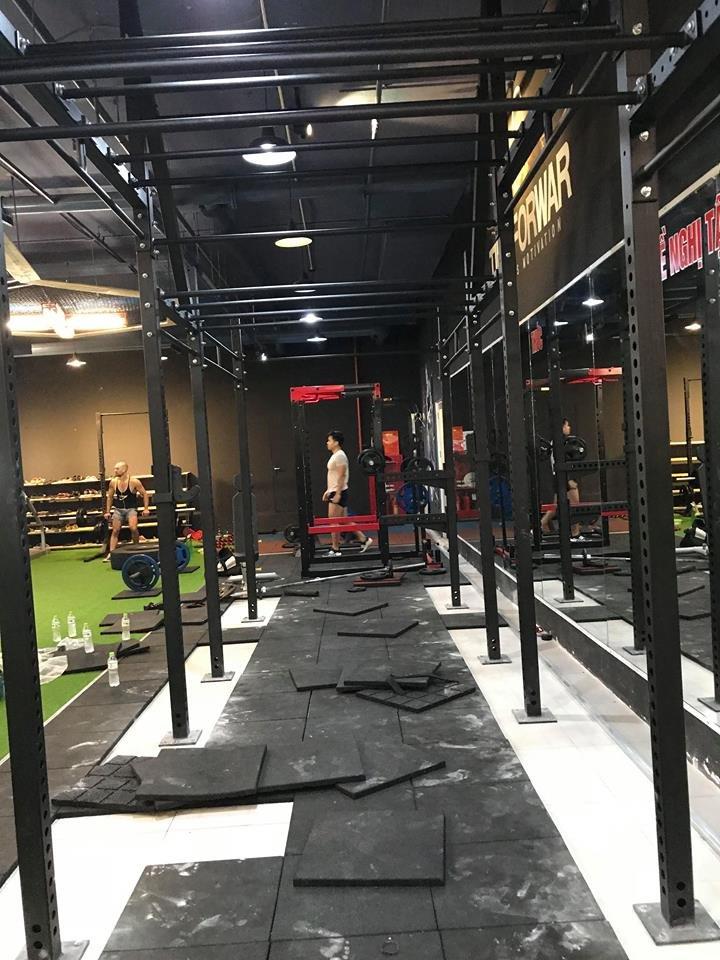 lắp đặt dàn tập crossfit cho phòng gym