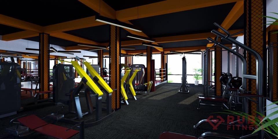 Dựng hình render 3D cho phòng gym