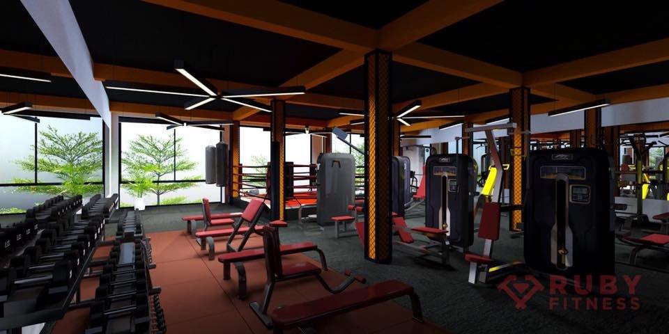 Hình ảnh 3D đồ họa vi tính cho phòng tập gym