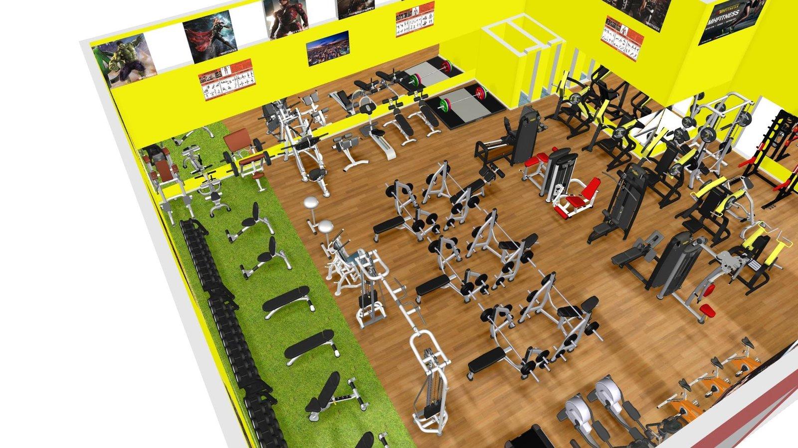 Thiết kế bản vẽ 3D cho phòng tập gym