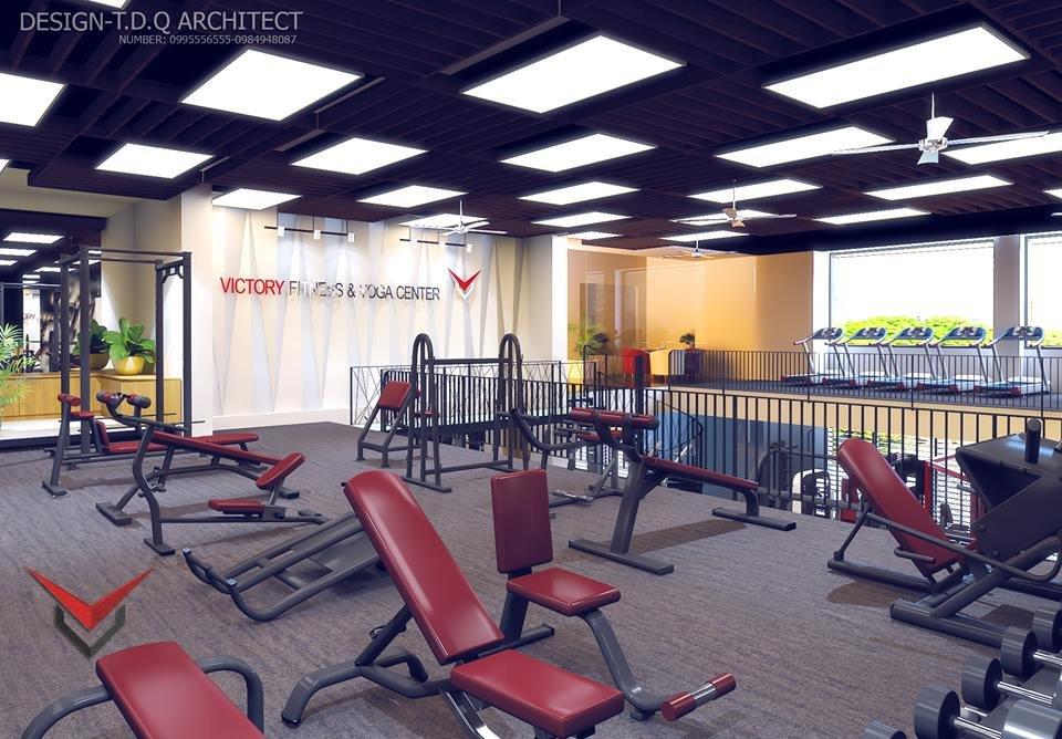 thiết kế 3D nội thất phòng gym