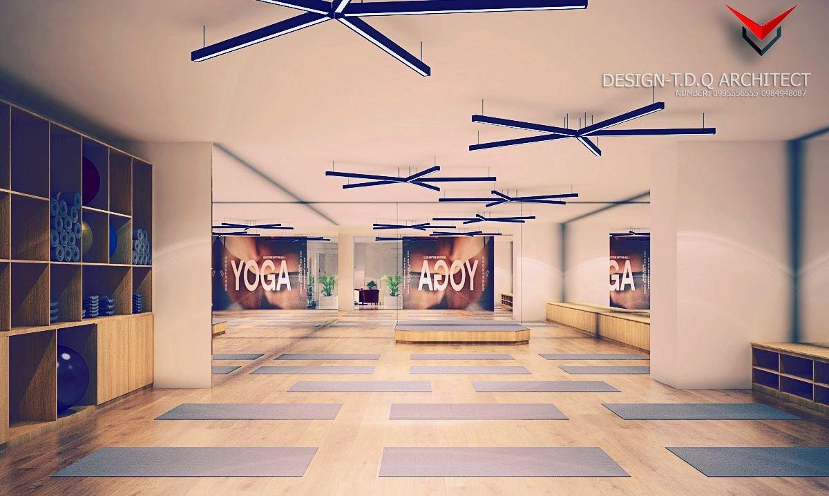 Thiết kế bản ảnh 3D mô phỏng cho phòng tập gym