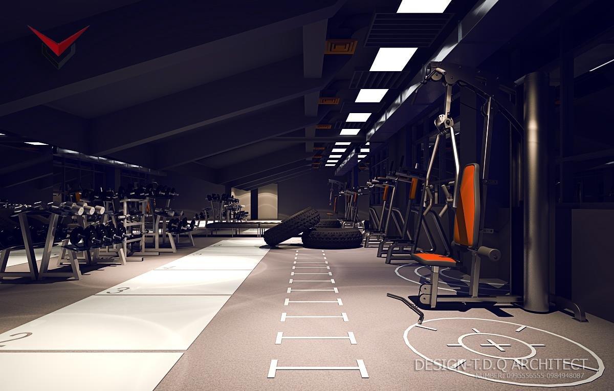 Các góc ảnh 3D minh họa phòng tập gym