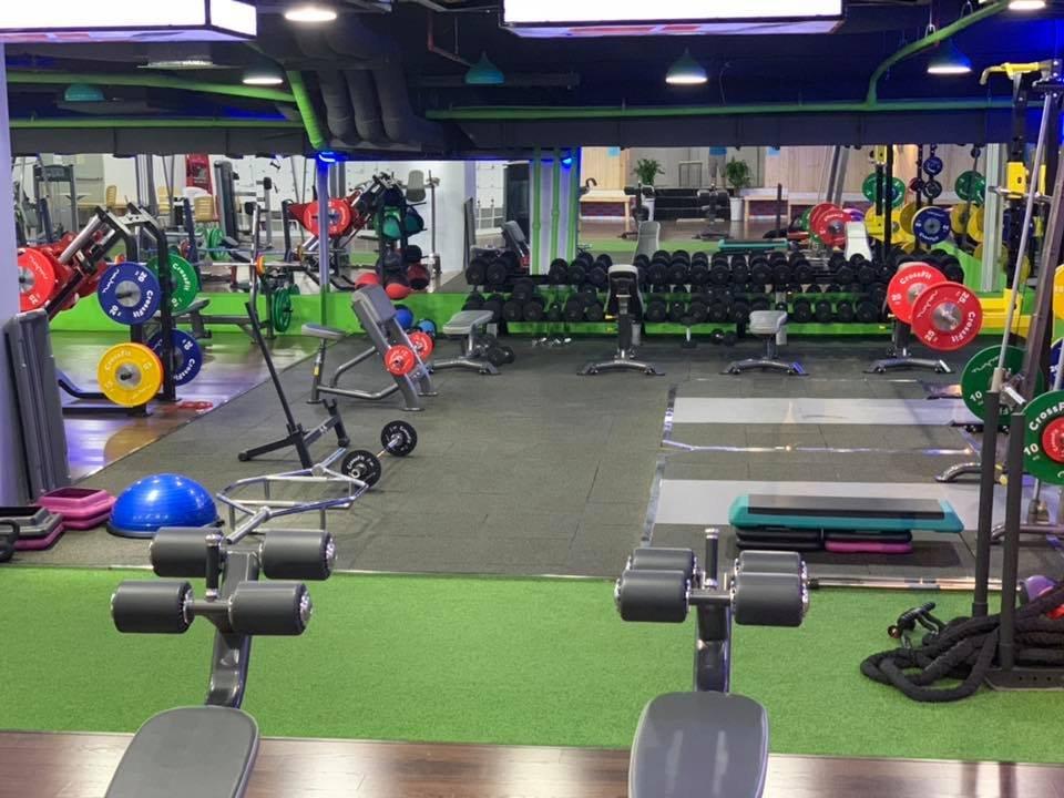 setup khu vực tập power lifting và tạ tay