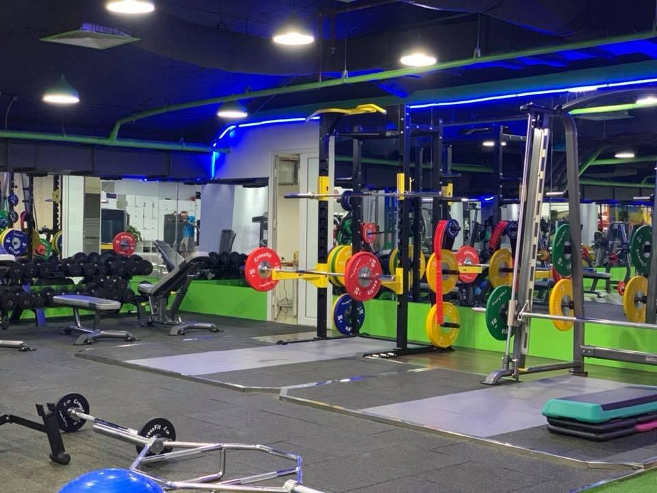 thiết kế deadlift platform và khu vực tập squat