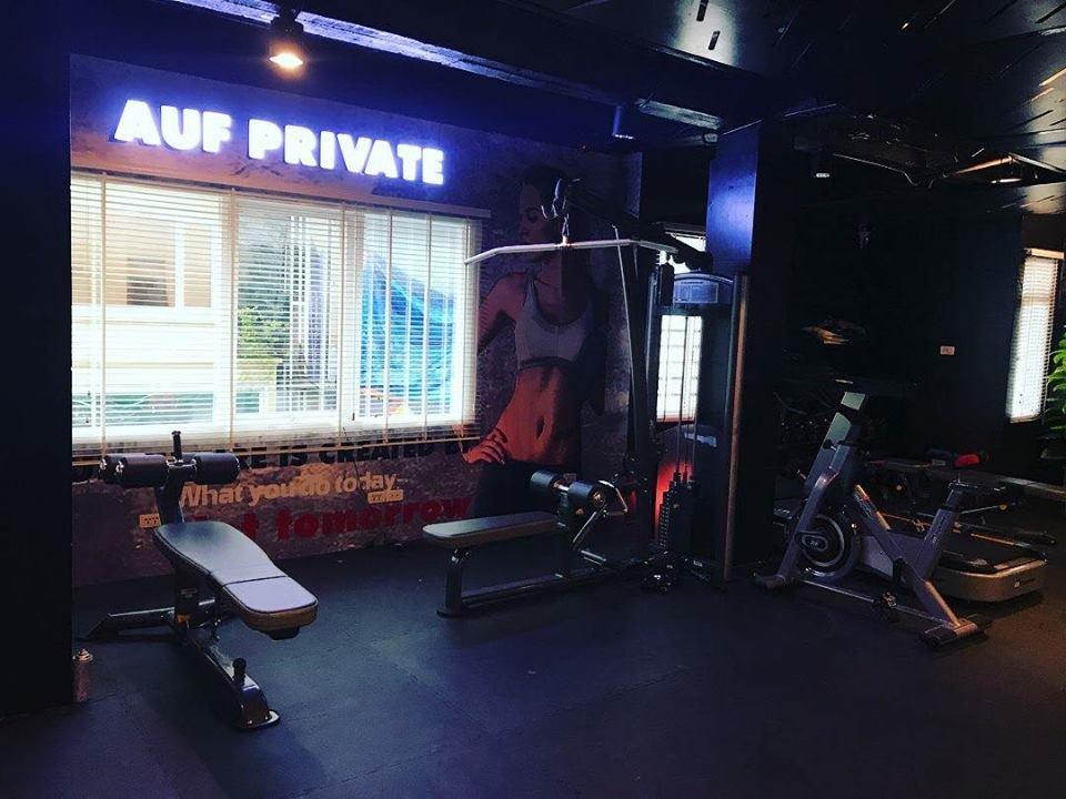 setup phòng tập quy mô nhỏ dạng private