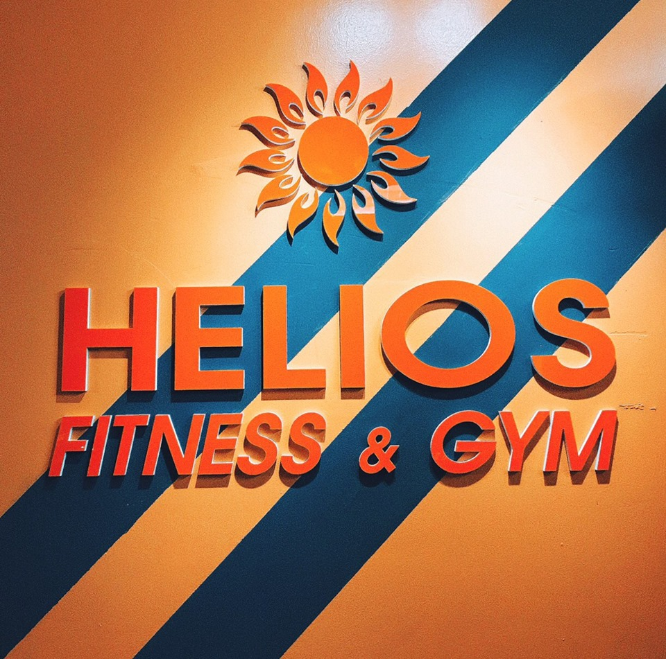 logo phòng tập helios gym fitness