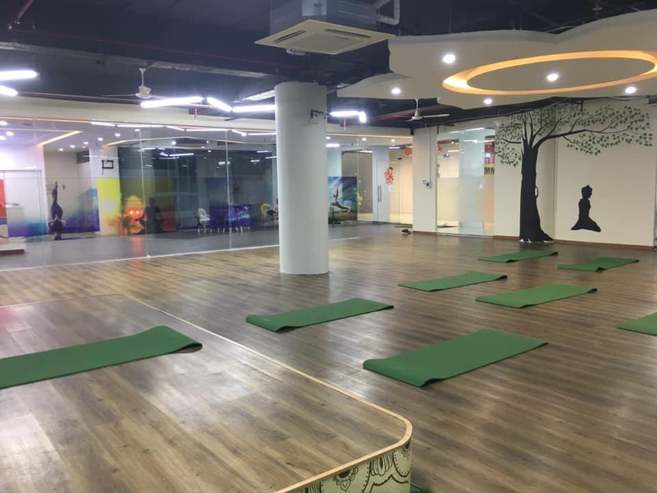 trang trí phòng tập lớp yoga