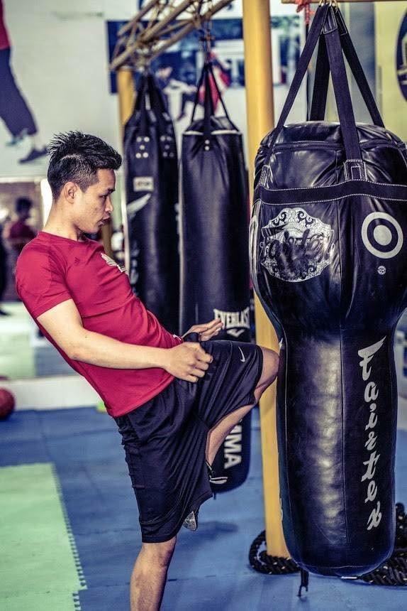 Khu vực tập luyện boxing kickfit