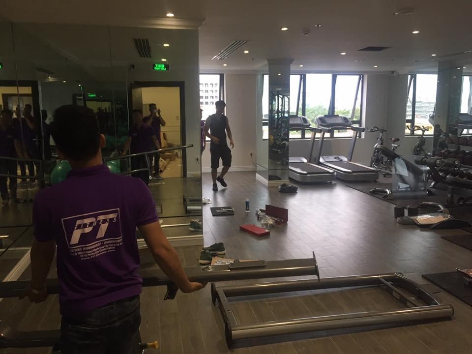 lắp đặt máy tập gym cho khách sạn