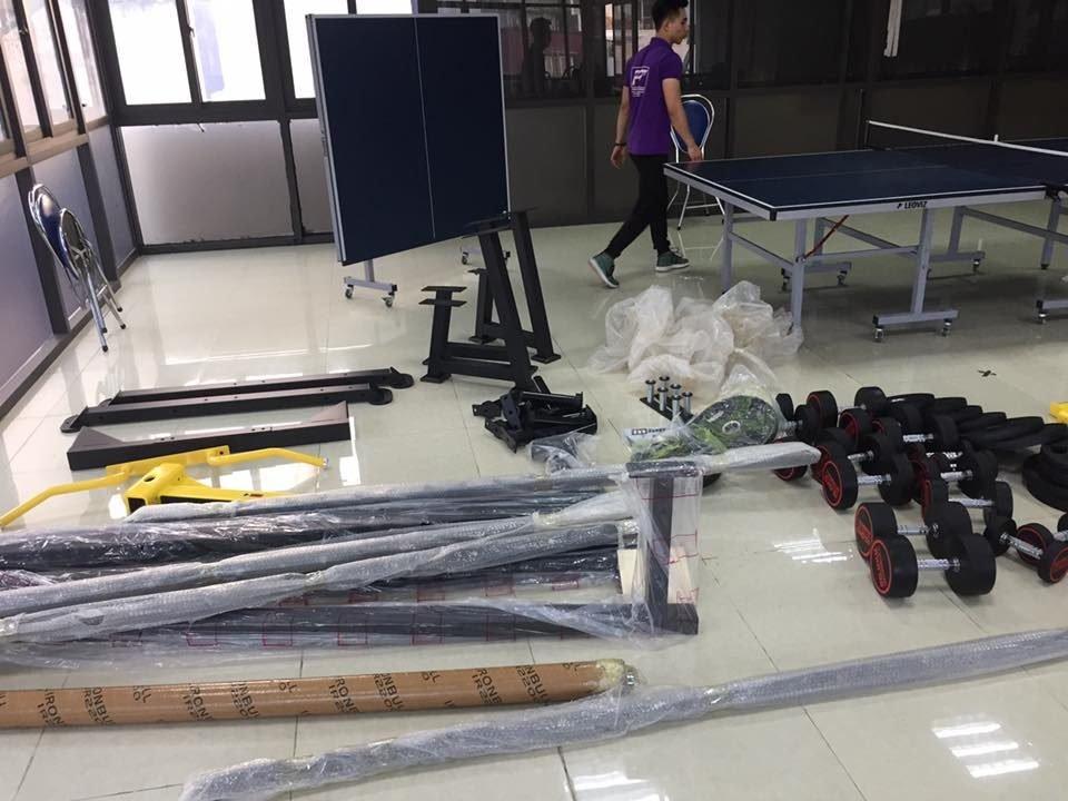 setup phòng tập gym tại cơ quan