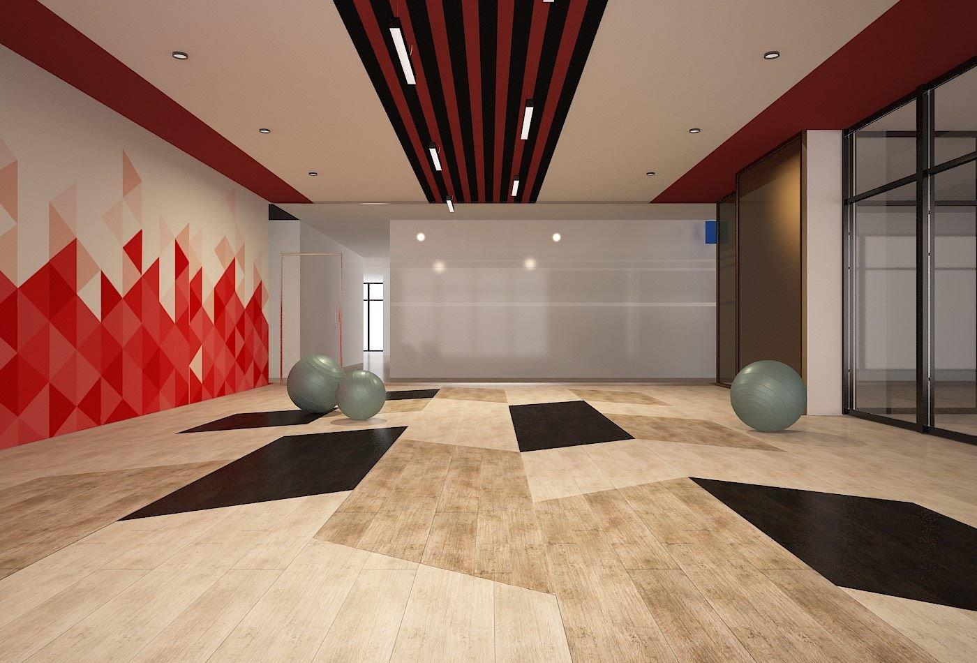 Thiết kế 3D nội thất phòng tập gym