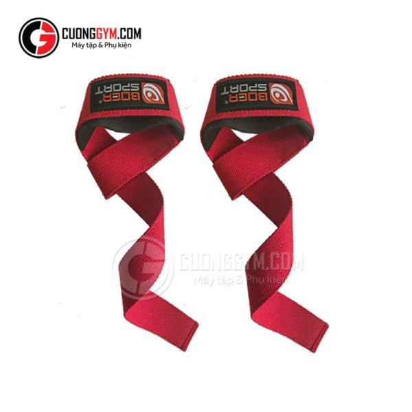 Lifting Straps - dây kéo lưng (mã sản phẩm: CGB-112) bản màu đỏ