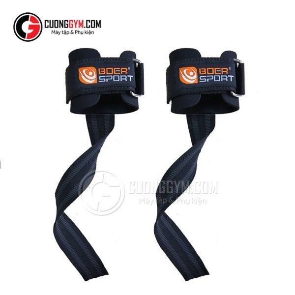 Dây kéo lưng - Lifting straps có cuốn cổ tay (mã sản phẩm: CGB-114)